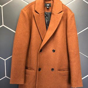 Used! H&M Brown Peacoat Trench Coat Jacket